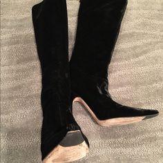 Jimmy Choo Velvet Boots