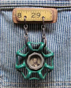 Assemblage Art Antique Tintype Medal / by SalvageArtSweetheart, $45.00