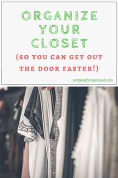 Declutter Your Clothes-Start in the Closet • SimpLeigh Organized How To Organize Your Closet, Declutter Your Home, Organizing Your Home, Organizing Ideas, Deep Cleaning Schedule, Deep Cleaning Tips, Cleaning Hacks, Organizing Services, Budget Organization