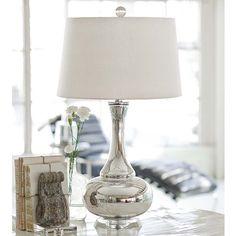 Mercury Glass Gourd Lamp