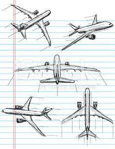 Airplane Sketch Illustration