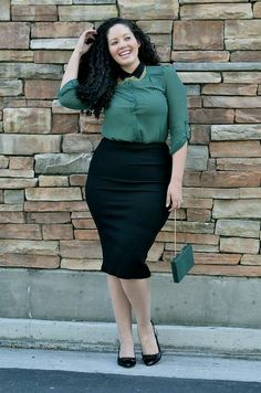 40 Office Approved Outfits For Plus Size Women - Office Salt Woman Skirts woman within plus size skirts Curvy Girl Fashion, Work Fashion, Plus Size Fashion, Fashion Outfits, Fashion Ideas, Plus Size Work, Looks Plus Size, Curvy Outfits, Plus Size Outfits
