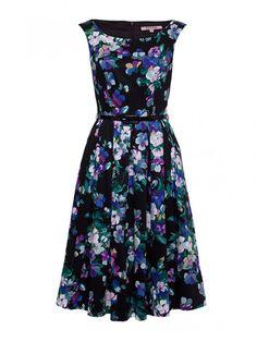 Midnight Bloom Prom Dress