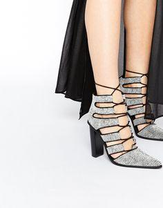 Senso+Taffy+Ice+Lizard+Lace+Up+Heeled+Shoes