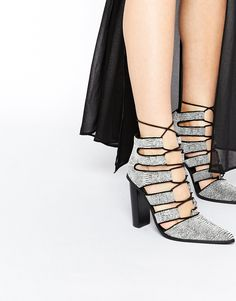 Pointed heels are a wedding regular – give yours a SS15 update with these lace-ups.
