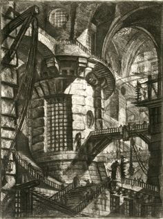 Visualizing opium dreams through the etchings of Piranesi. Pictured: The Round Tower.