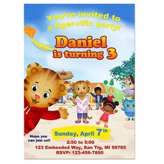 Daniel Tigers Neighborhood Digital Birthday Party by BirthdayArt, $6.00