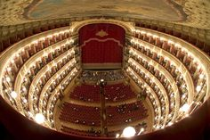 Teatro di San Carlo, Naples One of the oldest continuously active venues for public opera in the world, this theatre opened in decades before both the Milan's La Scala and Venice's La Fenice theatres. Italy History, Wine Tourism, Naples Italy, Dorian Gray, Italy Wedding, Concert Hall, Beautiful Buildings, Wine News, Destination Weddings