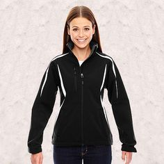 Ash City-North End Sport Red-Enzo Ladies Color-Block Soft Shell Jacket-78650