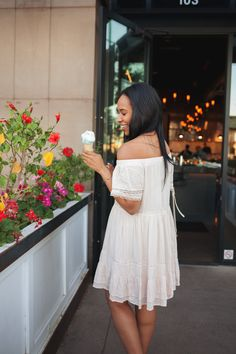 SIMPLY ALLYSSA, diana avalos photographs, blush, bloggers, arizona bloggers, outfit inso #ootd ice cream date, flowers, everything about this is so cute!