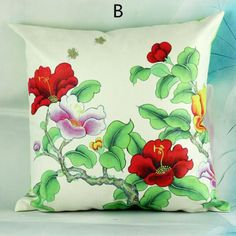 Flower pillow Chinese style decorative pillows 18 inch