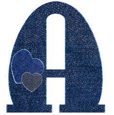 *Alfabeto vaquero de corazones...A mayuscula