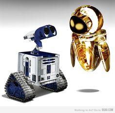 Starwars Wall.E ... I love Star Wars + Disney !!!