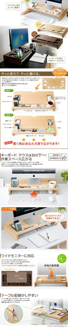 Desktop screen organiser