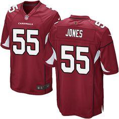 Men's Nike Arizona Cardinals #55 Chandler Jones Game Red Team Color NFL Jersey
