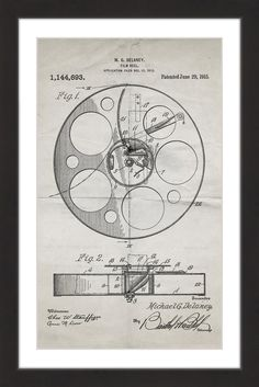 Design drawings for a man powered flying machine with manually film reel 1915 old paper marmont hill malvernweather Choice Image