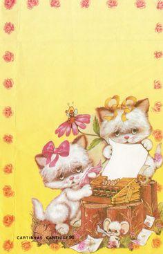 PAPEL DE CARTA GATOS #writingmachine #datilografia #kitten #cartiuge