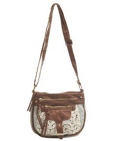 this boho crochet crossbody bag is so pretty <3