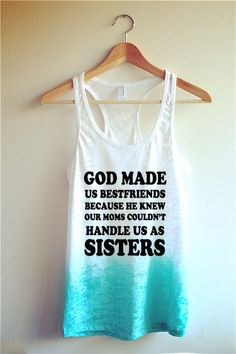 God made us best friends Tie Dye Tank Top/ Best Friends Shirt @bellareiners