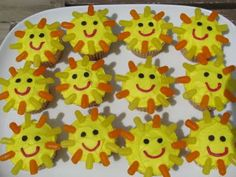 Sunshine Cupcakes - you are my sunshine party!