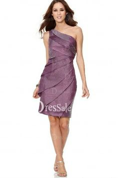 Grape Single Shoulder Sheath Frock