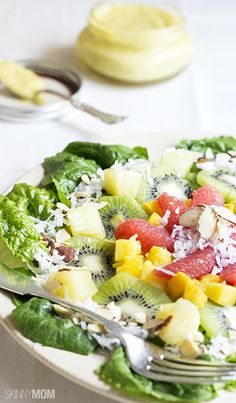 Now here is the perfectly fruity summer salad that your family will love.