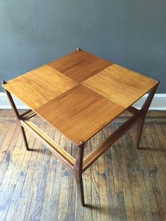 A personal favorite from my Etsy shop https://www.etsy.com/listing/248403407/mid-century-modern-end-table-german