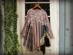 2X 3X Upcycled Bohemian Tunic Top// Plus Sizes// by emmevielle