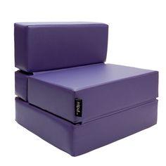 Puf Cama Convertible Polipiel Violeta
