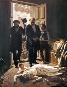 A la Pediatría desde el Arte. Un episodio de fiebre amarilla en Buenos Aires. Juan Manuel Blanes, 1871.
