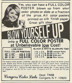 1978 ad: Blow Yourself Up