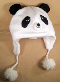 Download Panda Bear Fleece Aviator Hat Sewing Pattern | Featured Products | YouCanMakeThis.com