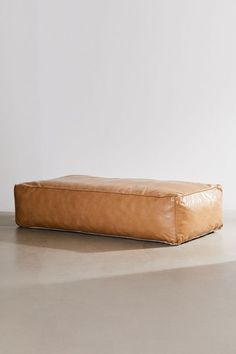 Ama Recycled Leather Floor Cushion | Urban Outfitters