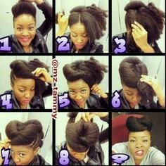 Natural Hair Updo The Chunky Crown Twist #naturalhair