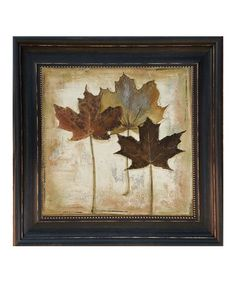 This Natural Leaves III Framed Wall Art is perfect! #zulilyfinds