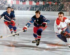 New York Rangers v Montreal Canadiens, Jean Ratelle, Henri Richard Men's Hockey, Rangers Hockey, Hockey World, Hockey Games, Rangers Game, Maurice Richard, Montreal Canadiens, Nhl Season, Vancouver Canucks