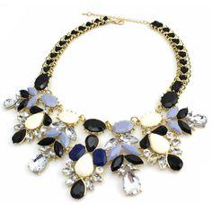 Fashion jewelry Water drop bib choker shourouk style Accessories Pendant Rope chain short statement necklace for woman