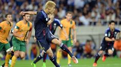 Japan became the first team to FIFA brazil world cup 2014 by Keisuke's goal.