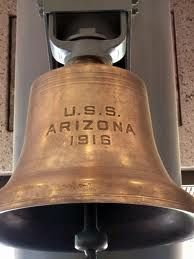 Ship's bell from USS Arizona.