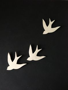 Together - Porcelain swallows wall art decoration Modern decorative ceramic wall decor Set of three birds on Etsy, $55.00