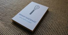 pastry chef business cards