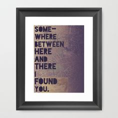 Here & There Framed Art Print by Leah Flores - $35.00