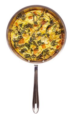 This healthy egg dish is a cross between an omelet and a crustless quiche. You can serve it in the same skillet you make it in, and it's terrific for brunch, lunch or dinner.