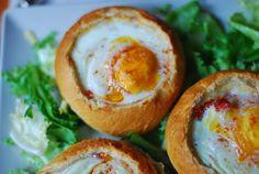 Huevos al nido. | Cuchillito y Tenedor