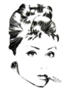 Audrey Hepburn 02 -ps effect by marilisaargentieri.deviantart.com on @DeviantArt