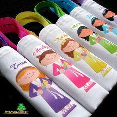 personalized sleepover favor bag