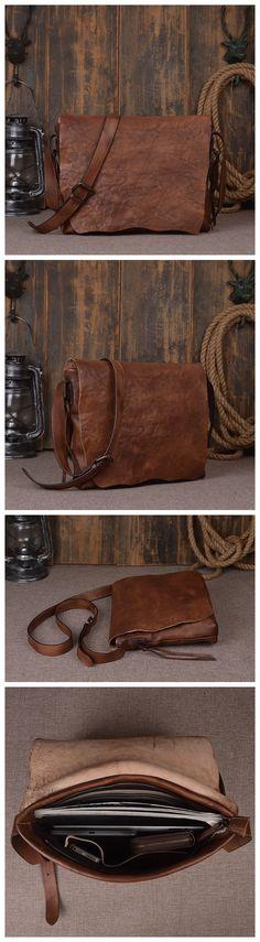 Handcrafted Genuine Leather Messenger Shoulder Bag 9034