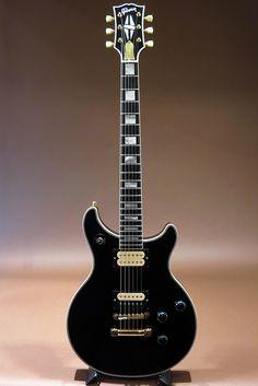 Gibson Custom Shop Double Cutaway Les Paul Custom in Ebony and Lollar Pickups Modified