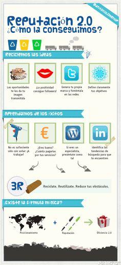 Reputación 2.0: ¿cómo la conseguimos? #infografia #infographic #socialmedia