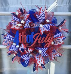 Hey, I found this really awesome Etsy listing at https://www.etsy.com/listing/400051605/patriotic-deco-mesh-wreath-patriotic